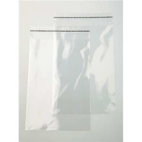 Pochette transparente 15x21cm (brut 16x22cm)