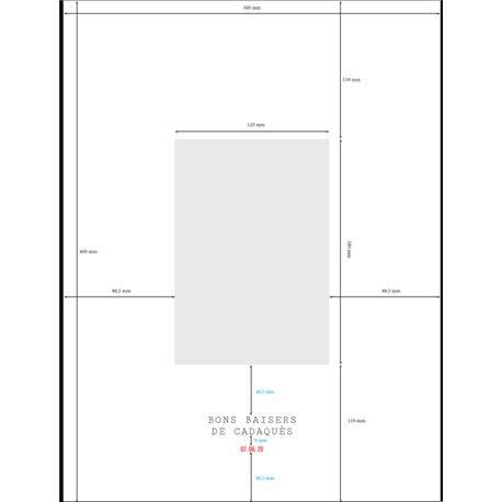 Passepartout 30x40cm - 1 Ouverture PORTRAIT - voir Modèle 2 (Couleur M3297)