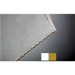 Cartons cannelure - blanc- brun - Epaisseur 1.6mm