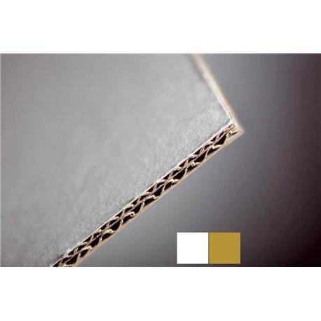 Carton de fonds blanc-brun - Epaisseur 2.6mm